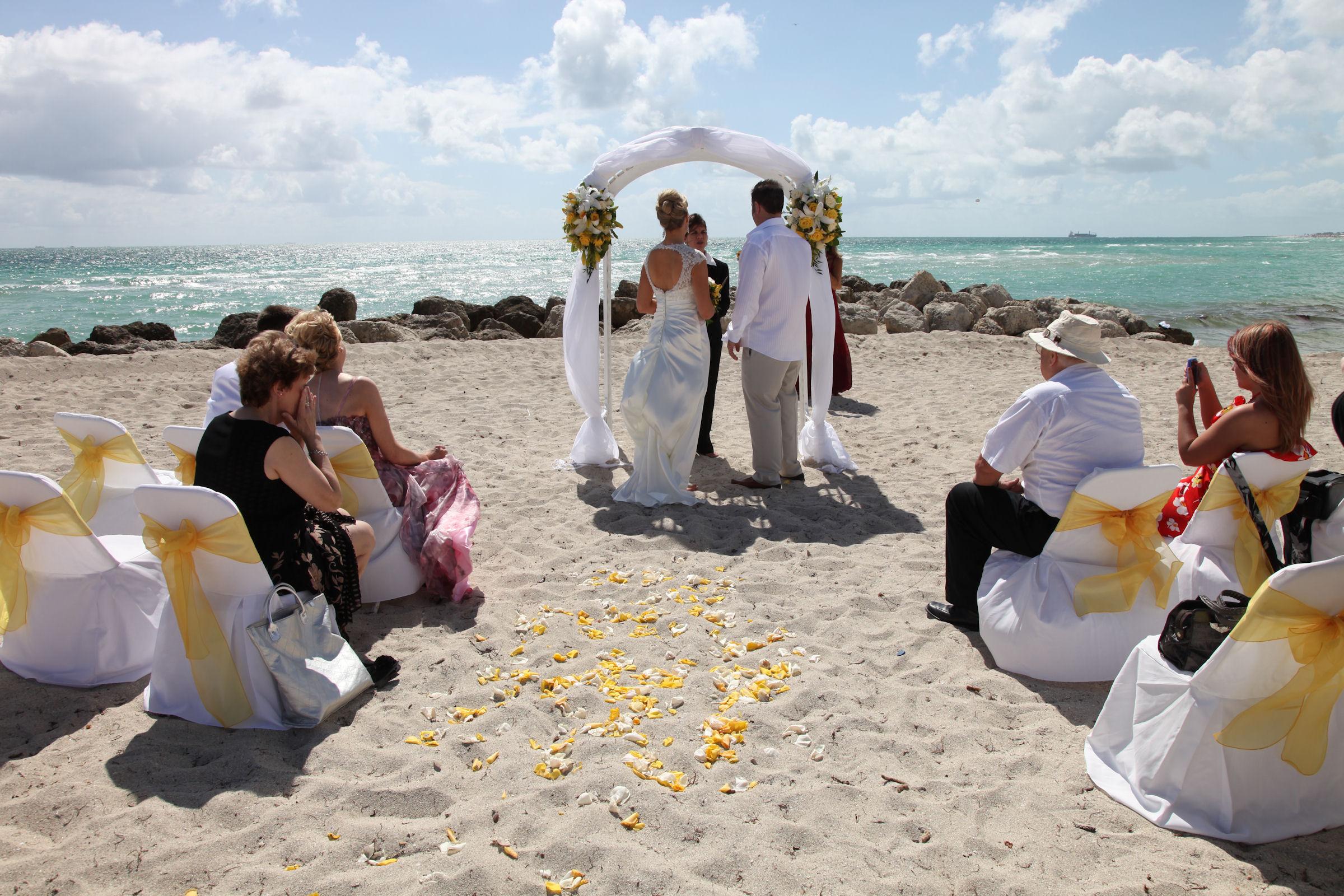 beach wedding in miami miami beach wedding coordinators