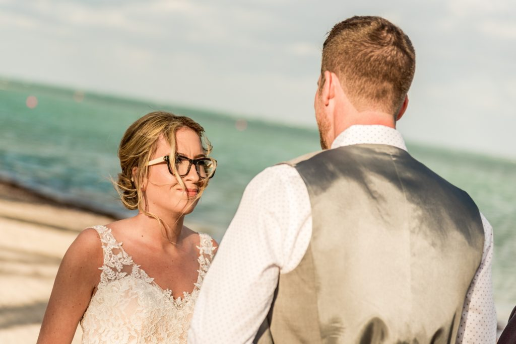 Beach wedding elopement